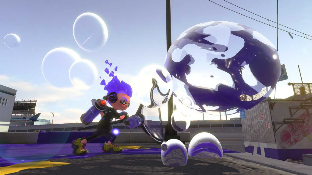 Splatoon 2 features bubble weapon image