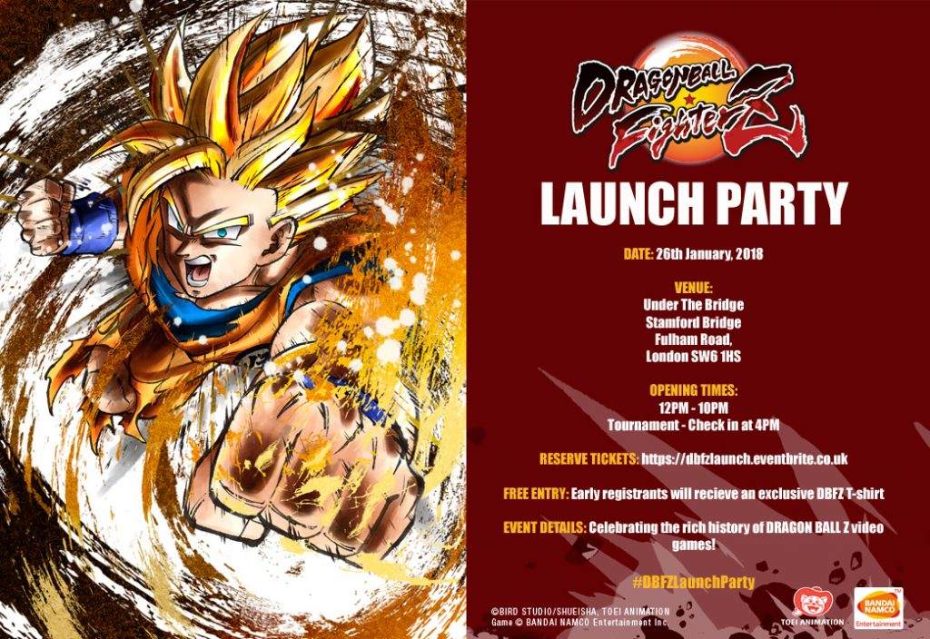 Dragon Ball FighterZ Public Event invite Flyer Image