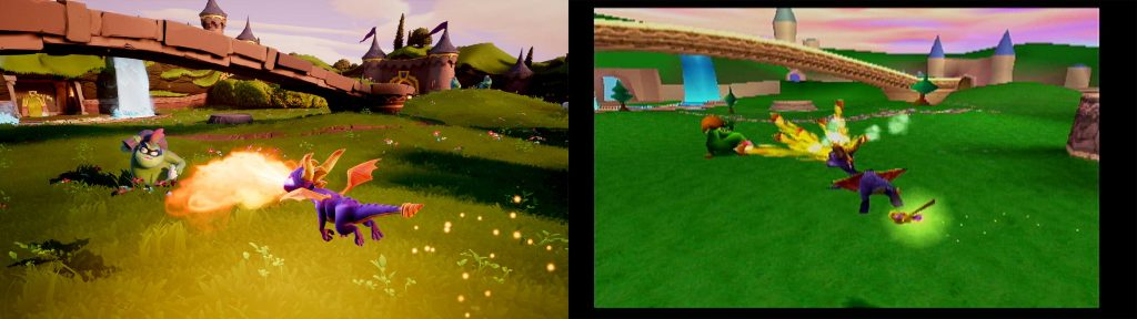 Spyro remaster for PS4 and Xbox One Graphics comparison
