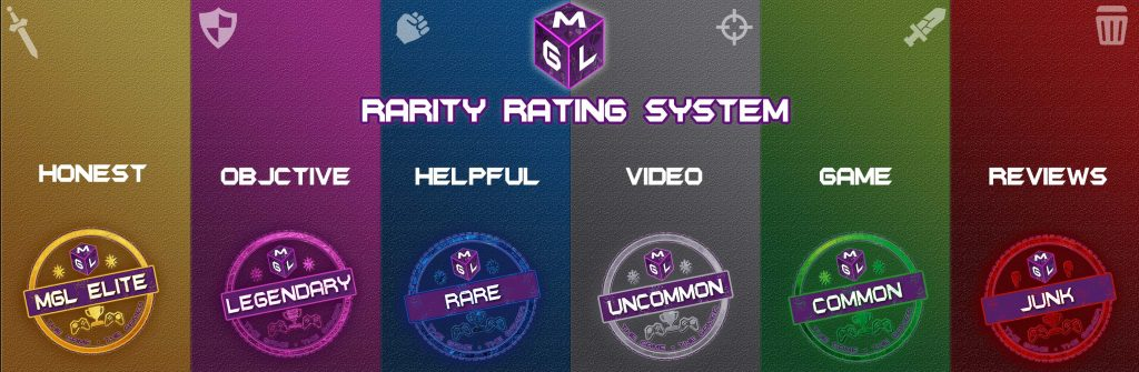 Video game review scoring rarity rating system