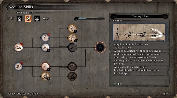 Sekiro Shadows Die Twice Features Prosthetic Arts Skill Tree Image